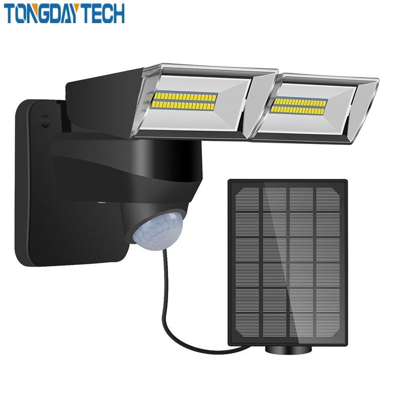 Tongdaytech 2020Newst Led Solar Light Outdoor Pir Motion Sensor Licht Solar Power Wandlamp IP65 Waterdicht Yard Garden Lamp led