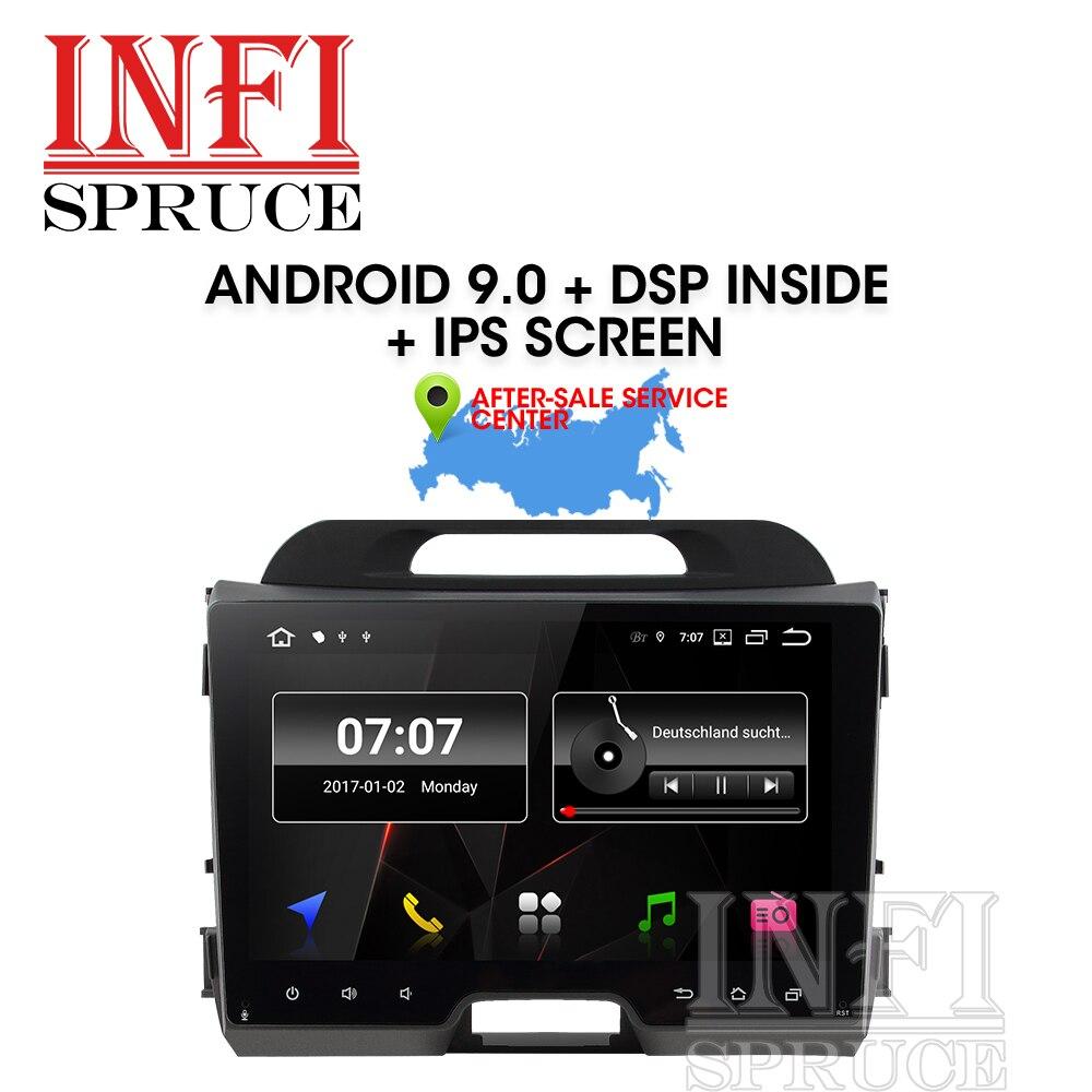 Android 9.0 carro dvd para kia sportage 2007-2010 2011 2012 2013 2014 2015 com rádio do carro estéreo multimídia player 2 din navegação