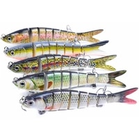 14cm 26g sinking wobblers 8 segments fishing lures multi jointed swimbait hard bait fishing tackle for bass isca crankbait