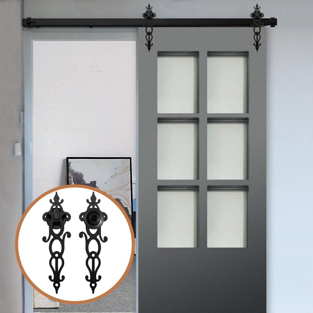 Gifsin10-16FT набор оборудования для раздвижных деревянных дверей, рельсовый трек в античном стиле для раздвижных дверей шкафа