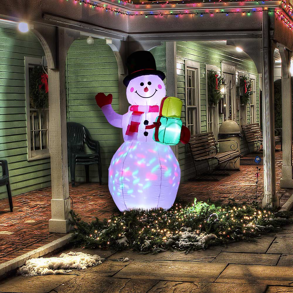 LED Inflatable Santa Claus Snowman Christmas Doll Outdoor Garden Toys For Kids Gift Christmas Party New Year Home Decor