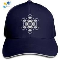 metatrons cube men cotton classic baseball cap adjustable size