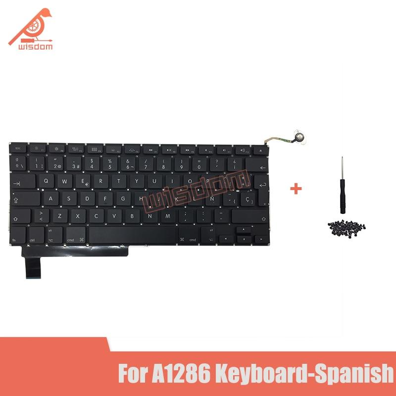 """Teclado a estrenar para Macbook Pro15 """"A1286 teclado español con tornillos de teclado MD318 MD322 MB985 2009-2012 yeaer"""