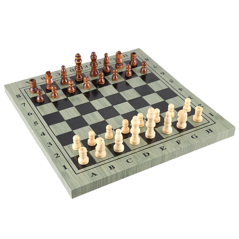 Large Size 34 * 34CM Folding Chess High Quality Wooden Advanced Printing To Send Spare Chess Pieces Children's Day Gift
