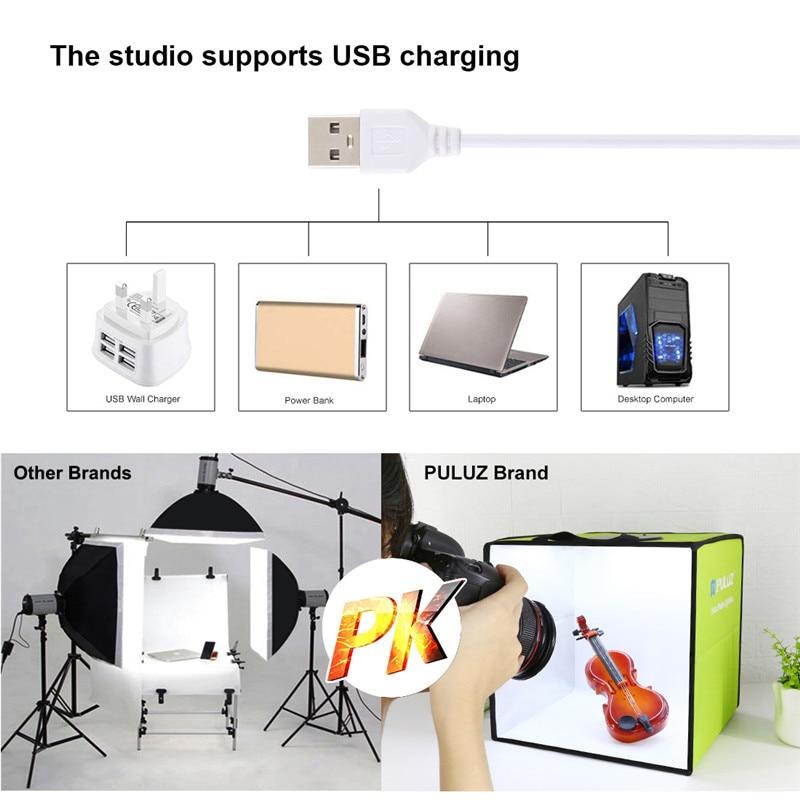 Mini Light Box Portable Folding With 6 Photography Backdrops Softbox Kit For DSLR Camera Photo Studio Shooting Photobox Lightbox enlarge