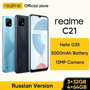 Russian Version realme C21 Smartphone Helio G35 Octa Core 32GB/64GB 6.5