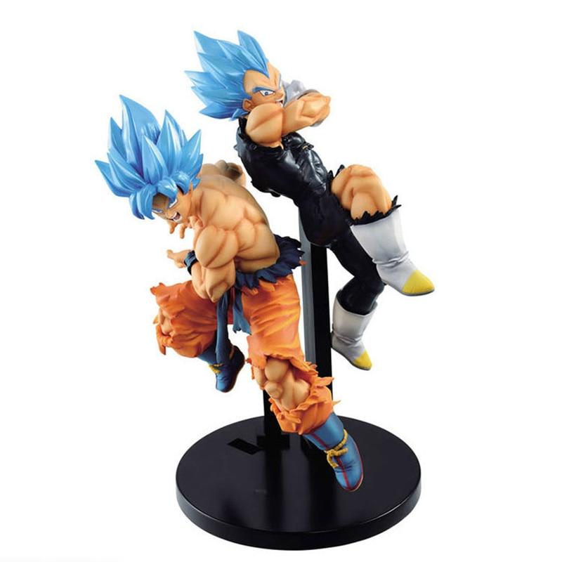 Figuras de acción de Dragon Ball Z, Gogeta Super Saiyan Grandista Figma, Gogeta azul, juguete de Goku, modelo en PVC, muñecos coleccionables de ROS DBZ