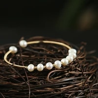 green purple real fresh water pearl 14k gold plated bracelet for women girls wedding handmade fashion jewelry brazalete mujer