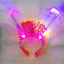 Bandeau de nouvel an pour adultes   Perruque clignotante en Fiber optique, cheveux style, cadeau de noël