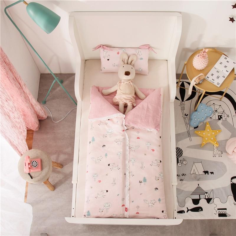 Detachable and Washable Children's Baby Thickened Anti-kick Sleeping Bag Newborn Cotton Children's Multifunctional Sleeping Bag