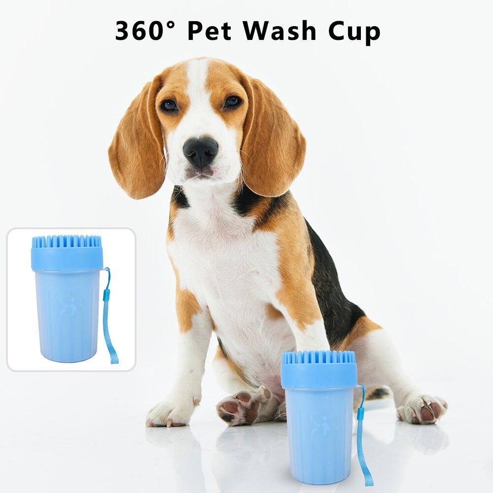 Animal de compagnie pied rondelle tasse patte propre brosse laver rapidement sale chat pied nettoyage seau chien patte nettoyant tasse doux Silicone peigne Portable