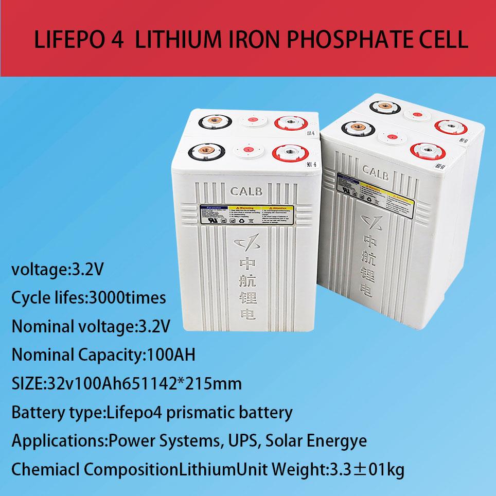 4 قطعة 3.2 فولت 100 بطارية Lifepo4 12v100 ليثيوم بطاريات خلية فوسفات الحديد جديد CALB ca100 البلاستيك ل RV الشمسية حزمة إلى 24 فولت