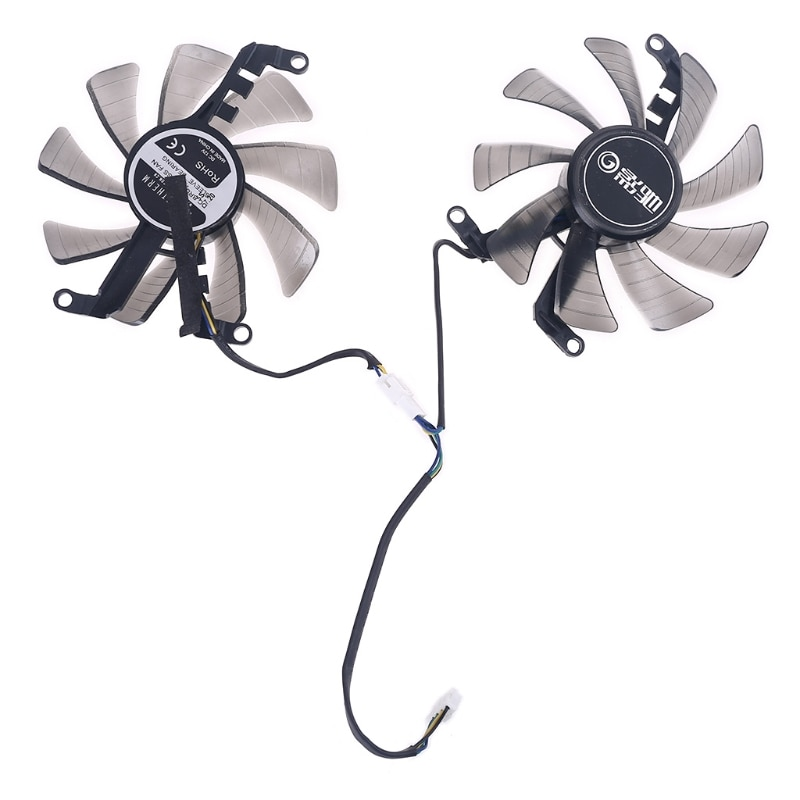2pcs 85mm 4Pin Cooler Fan for Galax GeForce GTX 1660 RTX 2060 2070 Graphics Card Y08B