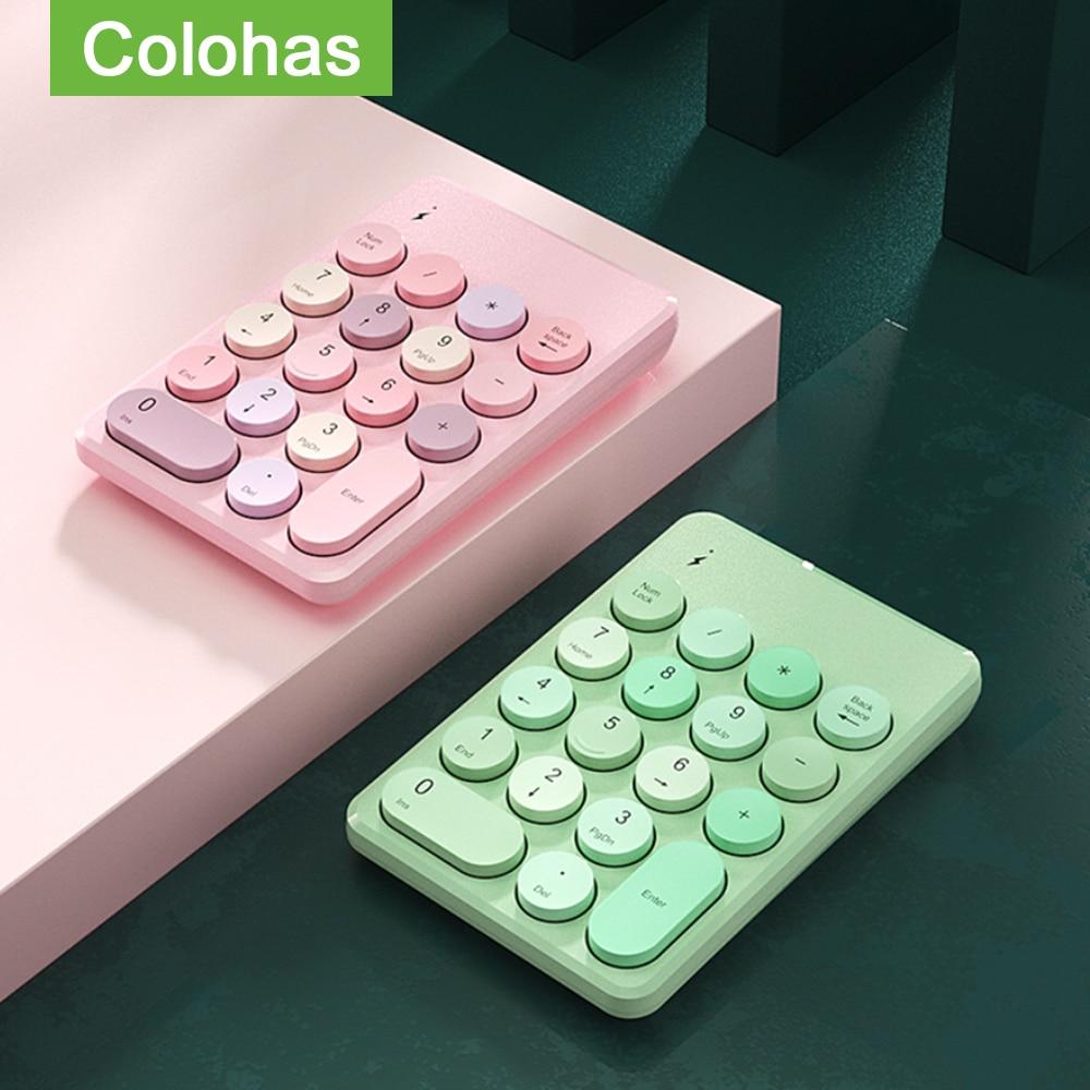 بلوتوث متوافق اللاسلكية الرقمية لوحة المفاتيح لوحة المفاتيح الماوس مجموعة لأجهزة الكمبيوتر المحمول ماك بوك اللوحي 18 مفاتيح رقمية لوحة الأر...