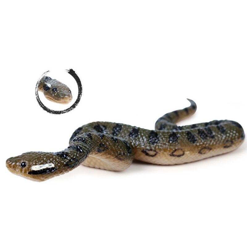 Falso juguete de goma realista serpiente Norte Estados Unidos verde Anaconda accesorios de miedo de Halloween R7RB