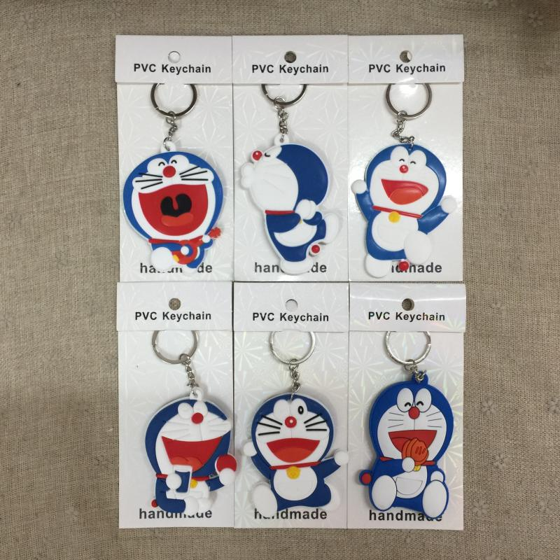 COSANER feliz Doraemon estilo llavero animé figura de PVC llavero regalos de cumpleaños Unisex nuevo