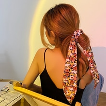 2021 Spring-Summer New Type Ribbon Narrow Scarf Women's Korean-Style All-Match Scarf with Shirt Thin