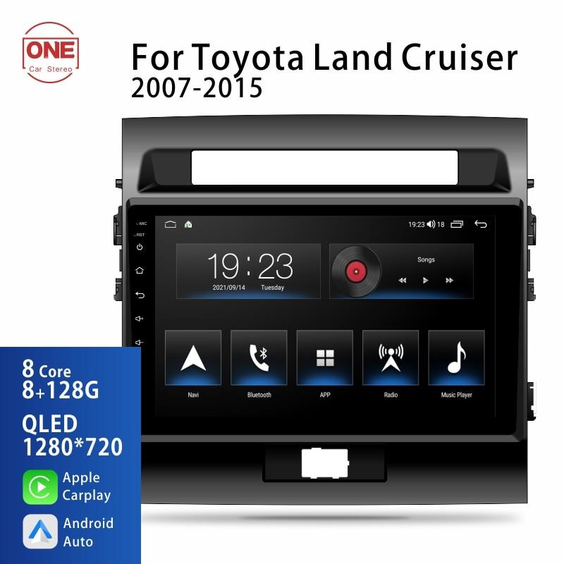 OneCarStereo Android 10 2 Din для Toyota Land Cruiser 2007-2015, автомобильное радио, мультимедийный видеоплеер, навигация, стерео, GPS, Dvd