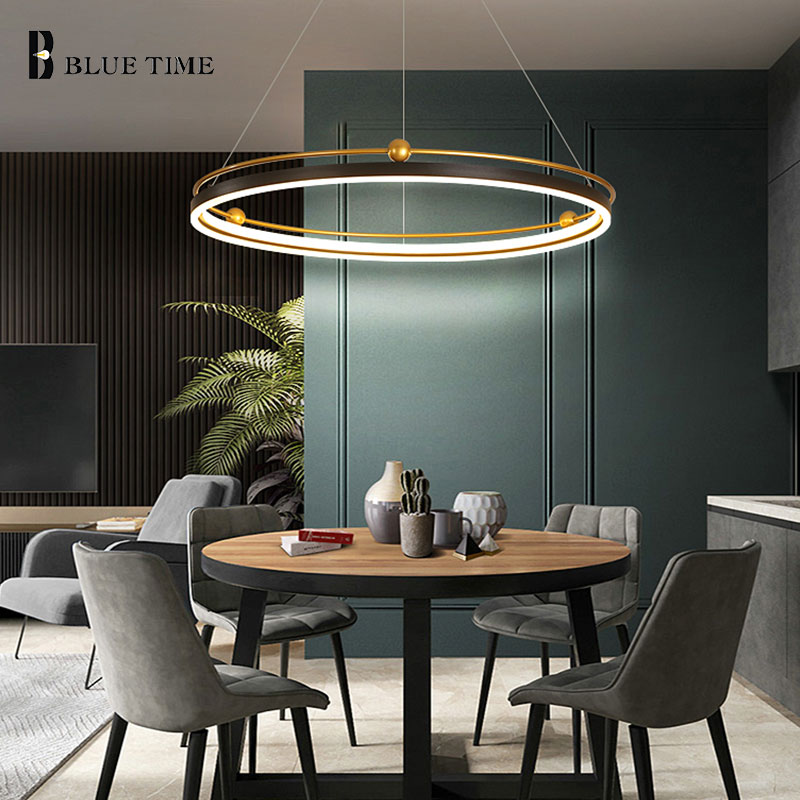 Circle Led Pendant Light Acrylic Modern Chandelier Pendant Lamp for Dining room Kitchen Living room Acrylic Led Ceiling Fixtures