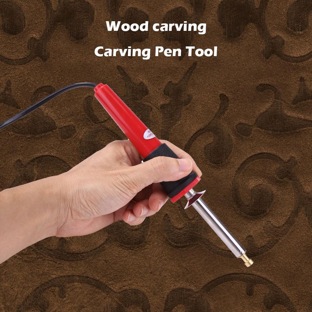 24 En 1 puntas de pistola para soldar de pirograbado herramienta excelente acero duradero ABS y plástico de grabación en relieve madera ardiendo pluma