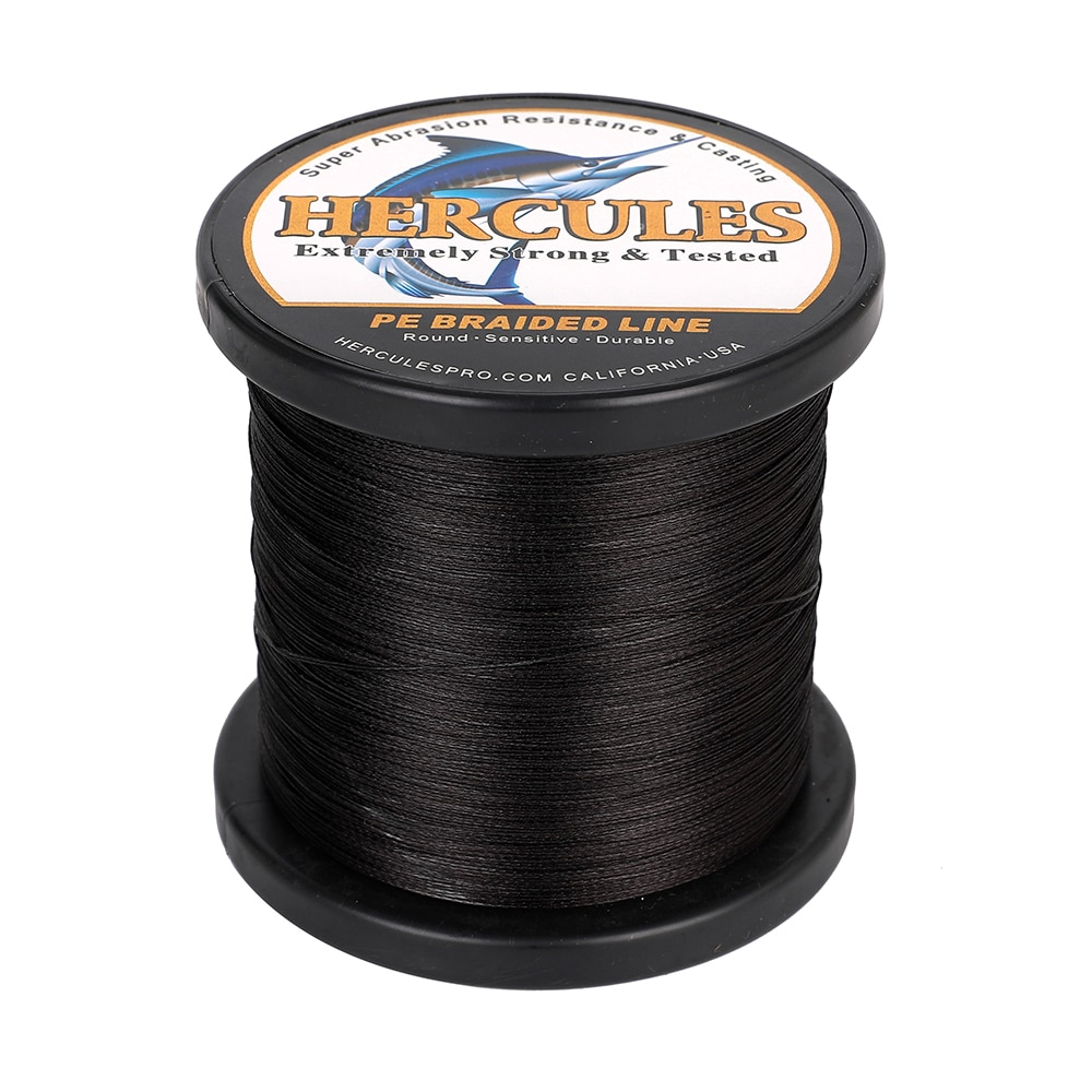 HERCULES No Color Loss Fishing Line 8 Strands Black 100M-1000M PE 10-120LB European Fashion Gifts For Men Tools and Accessories enlarge