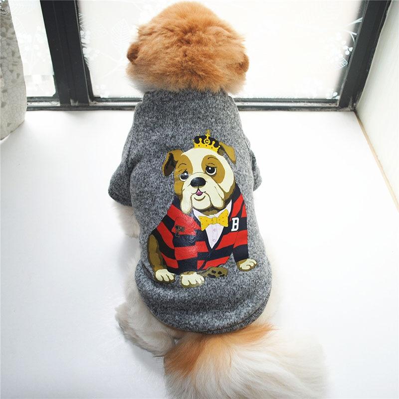 Dog Pattern Warm Pet Dog Jacket Coat Small Medium Dogs Winter Puppy Yorkshire Clothes Cotton Ropa Perro French Bulldog Clothing