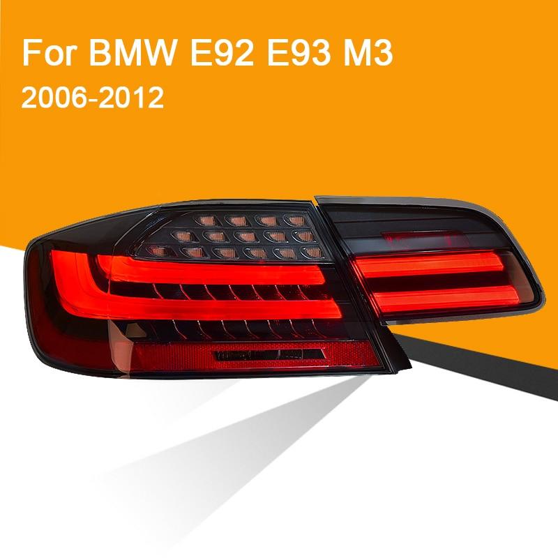 1Pair LED Tail Lamp for BMW E92 E93 M3 330 335 2006-2012 Red Smoked Black LED Tail Lamp Turning Signal Brake Light Reverse Light