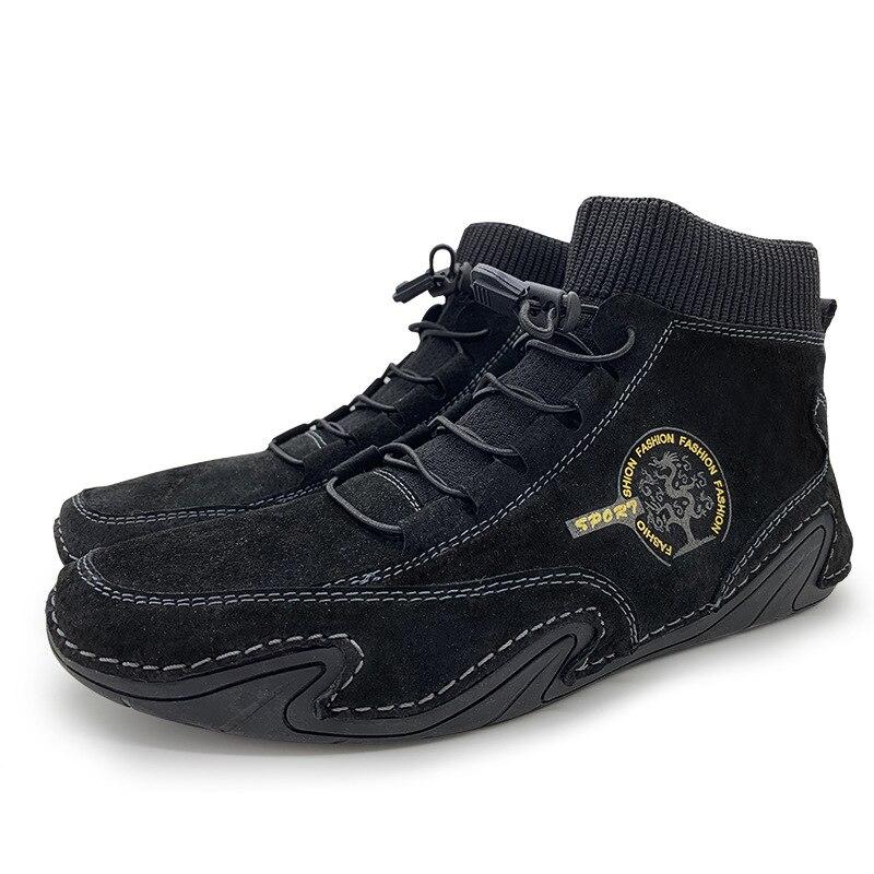 Zapatillas De Deporte De Piel De Vacuno Para Hombre De zapatos A...