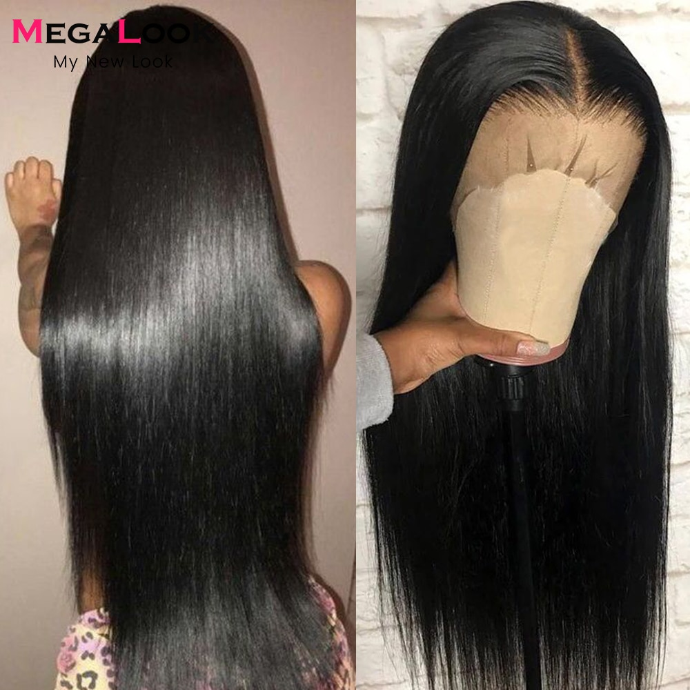 HD Transparent 13x4 13x6 Lace Front Human Hair Wigs For Women Brazilian Straight Lace Frontal Wigs Pre Plucked 4x4 Closure Wigs