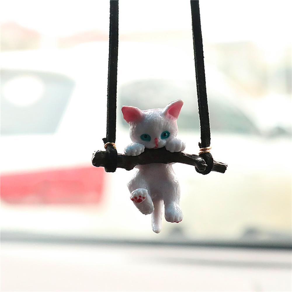 Автомобильные подвесные украшения креативные милые филиал кошка Подвеска для зеркала заднего вида автомобиля внутреннее художественное о...