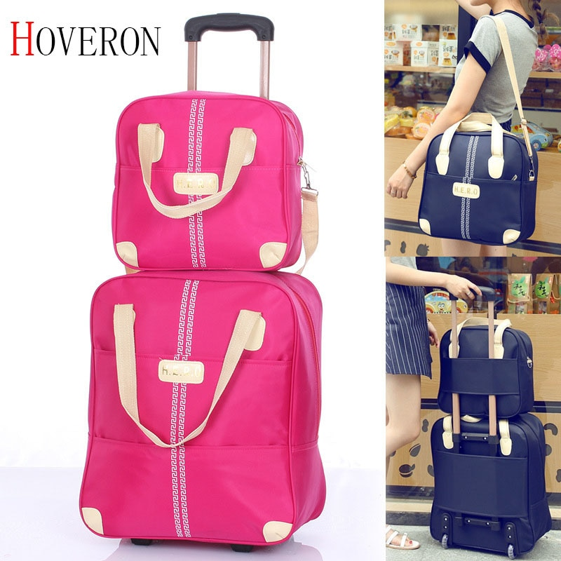 Casual woman travel suitcase portable trolley case rolling suitcase   Fashion Rolling Case Travel Bag Wheels Luggage Suitcase