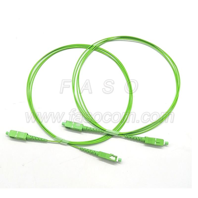 500Pcs 3.5 Meter Optical fiber cable SC/APC SX Core 1.6mm SM G652D/G657A1/G657A2 Green LSZH Jacket Fiber Optic Patch Cord enlarge