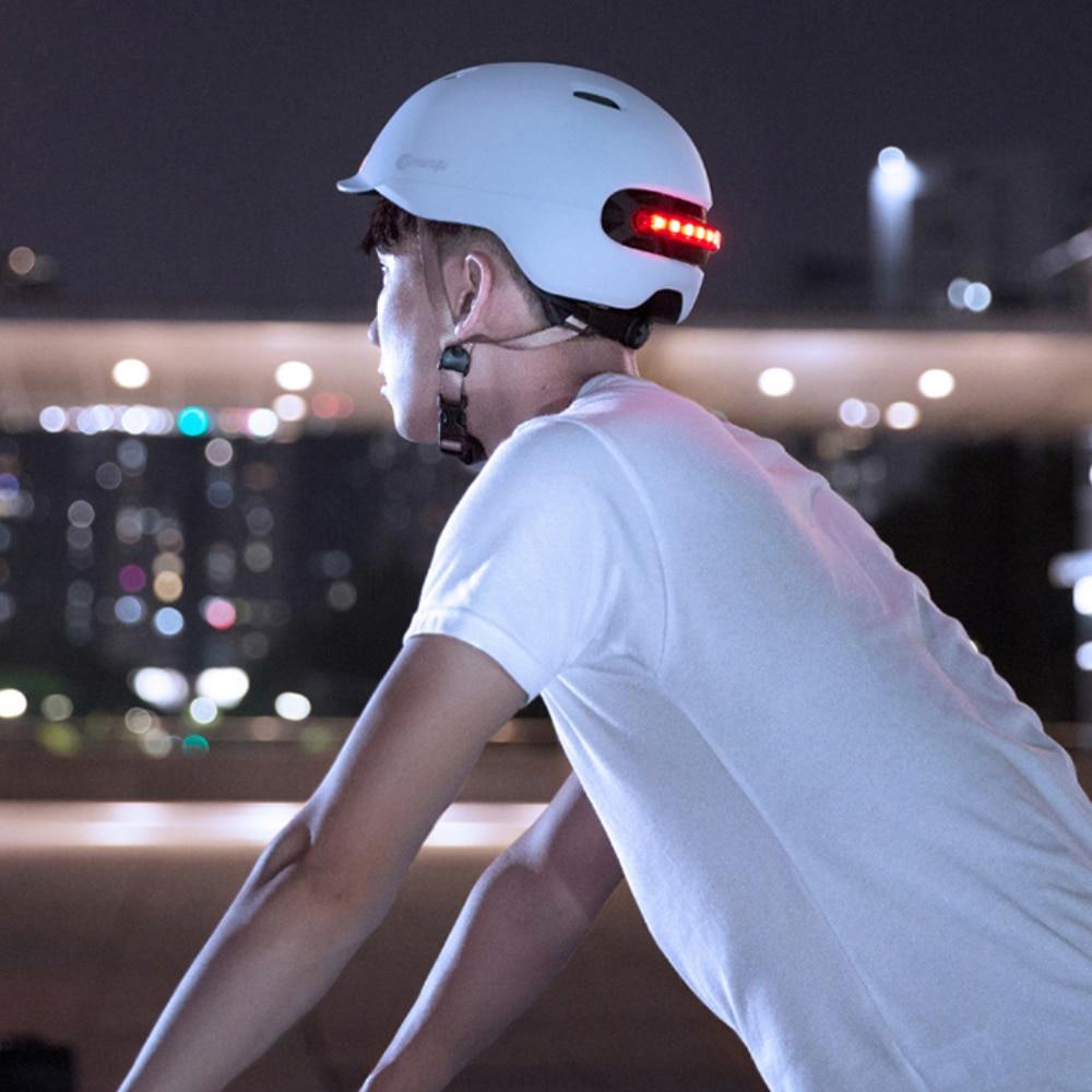 Smart 4 U Cycling Scooter Helmet with LED Lights - Black Large