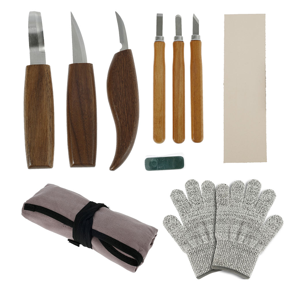 Фото - 10PCS Carving Knife Woodcut DIY Hand Wood Carving Tools Woodcarving Cutter Knives Woodworking Tools Wood Chisels Hand Tools chisel woodworking cutter hand tool set wood carving knife diy peeling woodcarving sculptural spoon carving cutter carving knife