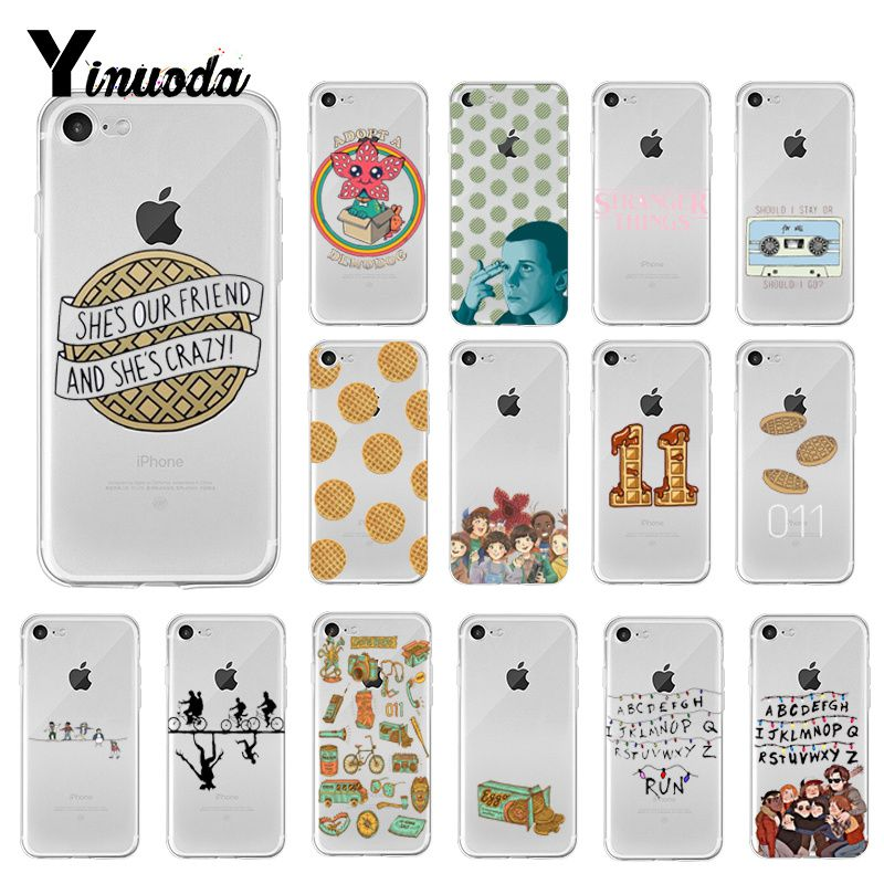 Yinuoda Stranger Things Christmas Lights Novelty Fundas Phone Case  for iPhone 6S 6plus 7 7plus 8 8Plus X Xs MAX 5 5S XR 10