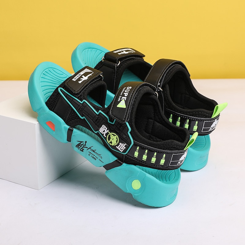 Boys Summer Soft, Comfortable and Breathable Sandals, Children's Outdoor Beach Shoes Sandals