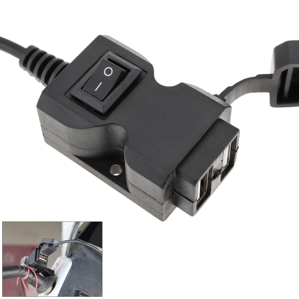 hot sale mean well add 155b meanwell add 155 152 75w dual output with battery charger usp function power supply Dual USB Port 12V Waterproof Motorbike Motorcycle Handlebar Charger 5V 1A/2.1A Adapter Power Supply Socket for  Mobile Hot Sale