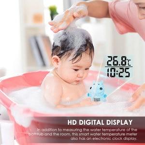 Baby Shower Bath Water Temperature Thermometer Cartoon Yellow Duck Waterproof Water Sensor Test Children Bathing Toy Baby Care
