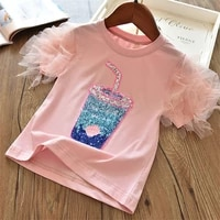 fashion unicorn girls t shirt children short sleeves white tees for boys baby kids cotton tops for girls clothes 3 4 5 6 7 8 yrs