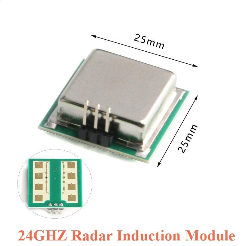 taidacent 5 pcs small 5 8g radar sensor doppler radar module radar motion detector for human moving adjustable sensing range Radar Sensor Module Microwave Human Body Induction Module 24G 24GHZ CDM324 Radar Induction Switch Sensor Module For Arduino