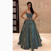 sparkle sequines prom dresses women party night long vestidos de gala spaghetti straps evening dress 2021 sexy robe de soiree
