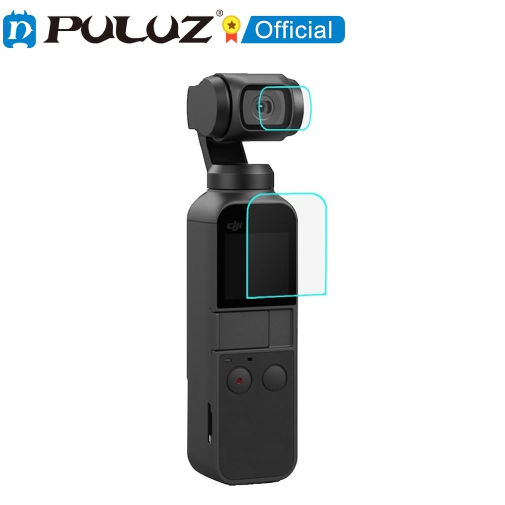 PULUZ HD-Protector de lente de cristal templado + promo de pantalla para...