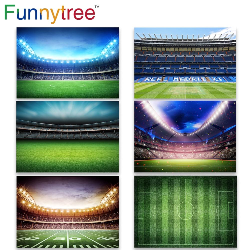 Funnytree background fotografia estúdio meninos campo de futebol futebol jogo real madrid cf festa foto fundo photocall photozone