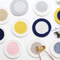 round cotton rope tassel nordic style non slip kitchen placemat coaster insulation pad dish coffee table mat home decor 51006