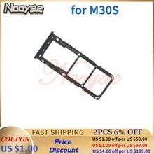 10 pièces/lot M307 SIM carte Slot support de remplacement pour Samsung M30S Micro SD carte fente plateau prise adaptateur double Sim Version
