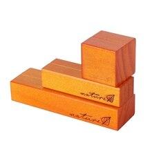 Bois naturel bloc Clips papier Photo Photo porte-carte pince support Table décor L4MA