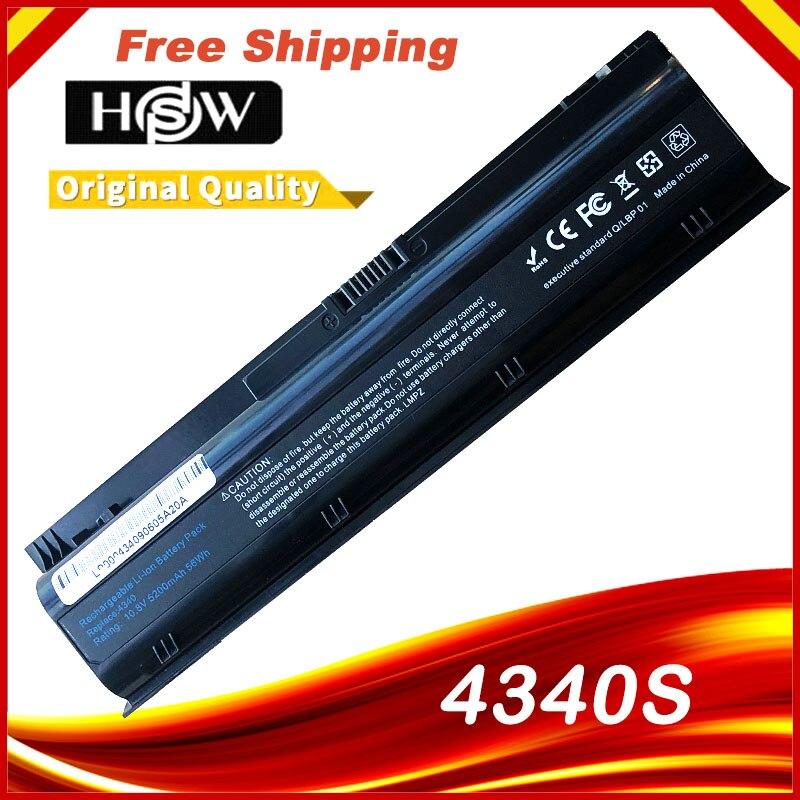 HSW, batería para ordenador portátil, H4R53EA HSTNN-UB3K HSTNN-YB3k RC06 668811-541 H4Q46AA HSTNN-W84C para Hp ProBook 4341s 4340s 434 envío gratis