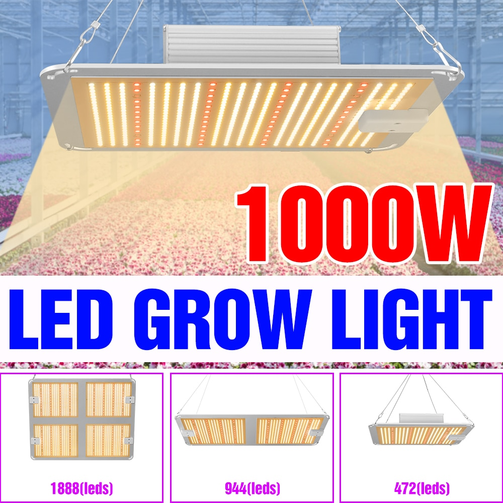 Full Spectrum Phyto Lamp 2000W Grow Light 1000W Fitolampy Waterproof Plant Light 4000W Phytolamp 85-265V Hydroponics Growth Bulb