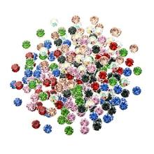 50 Pcs 크리스탈 발톱 라인 석 장식 embellishments에 바느질 공예 DIY 8mm