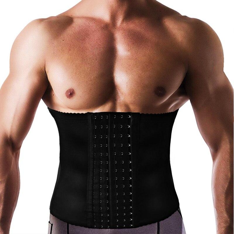 Hombre entrenador de cintura delgada 7 hueso de acero empresa cintura CINTURÓN DE Cincher ropa interior ropa cuerpo de la correa Shapers fajas Faja corsé fajas
